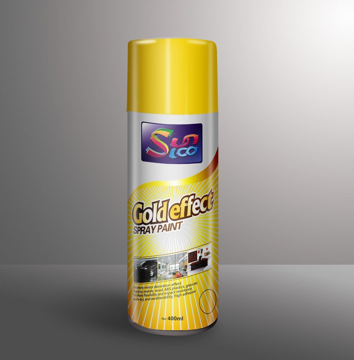 China Bright Gold Effect Spray Paint China Bright Gold Effect Spray Paint