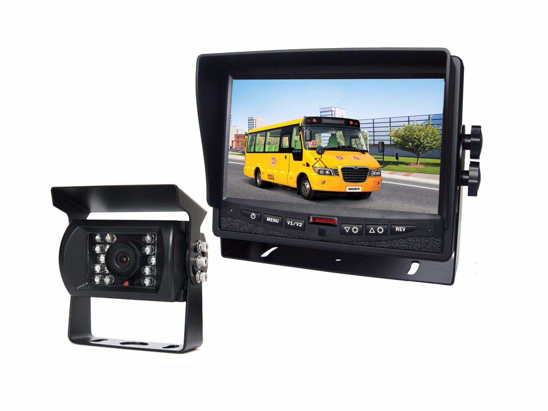 "7""HD 1080P Rear View Camera 4 Channel IP69k"