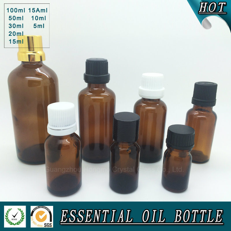 Brown Essential Oil Glass Bottle
