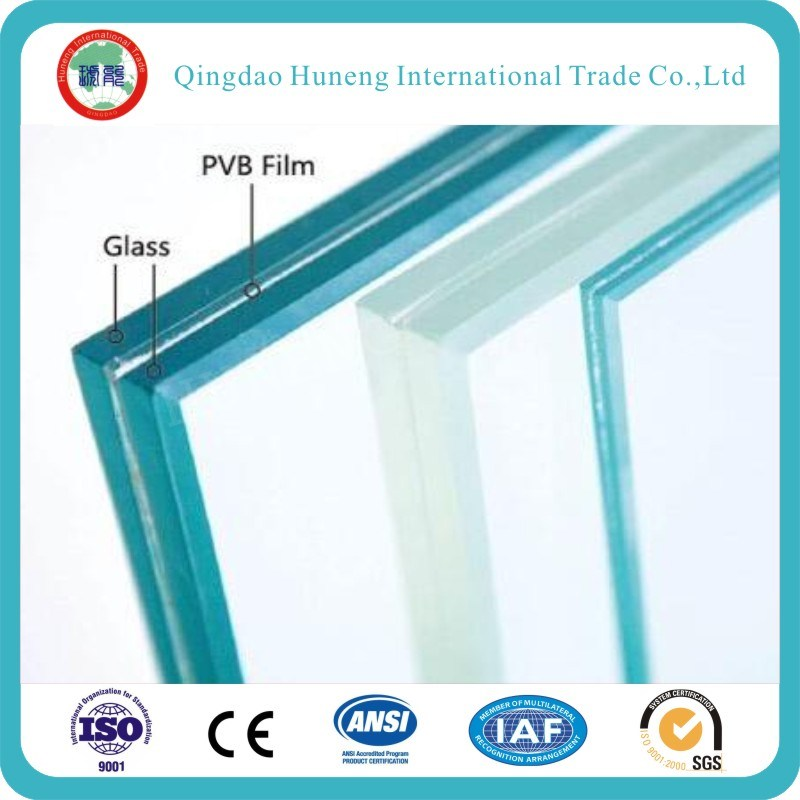 0.38mm/0.76/1.52mm PVB Laminated Glass with Ce&CCC&ISO&SGS Certificate