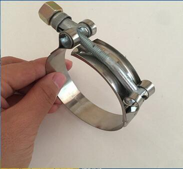 Hot Sale AISI201 Stainless Steel T-Bolt Concrete Hose Clamp Manufacturer