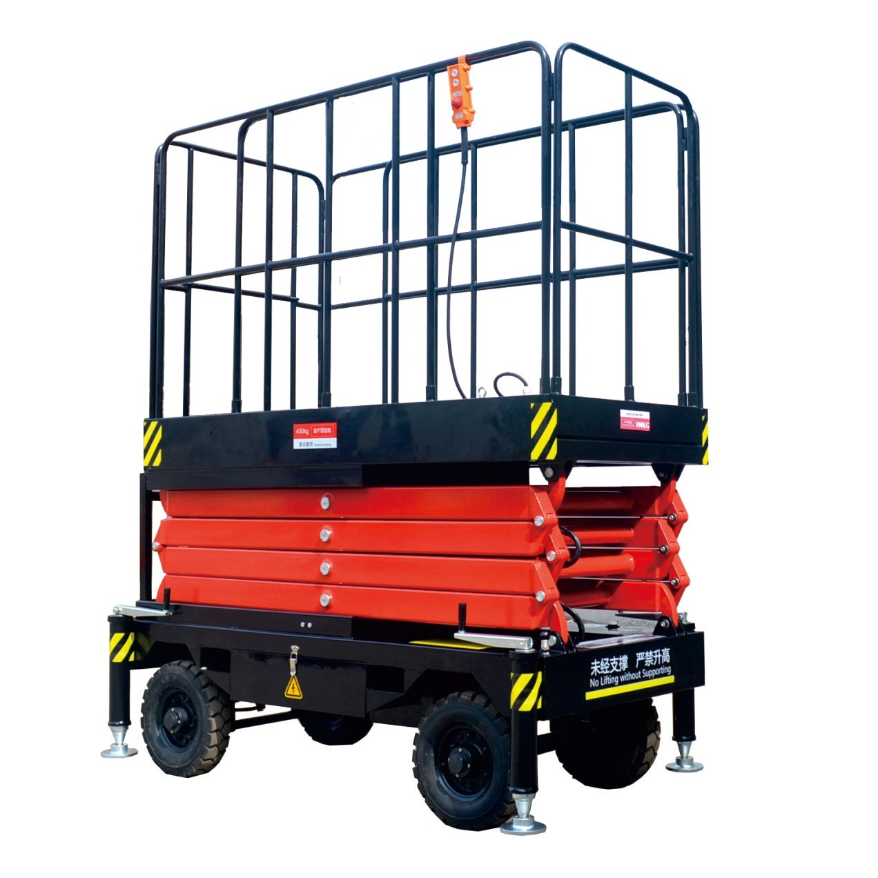 Hydraulic Motor Mobile Scissor Lift for Working Outdoor (11m)