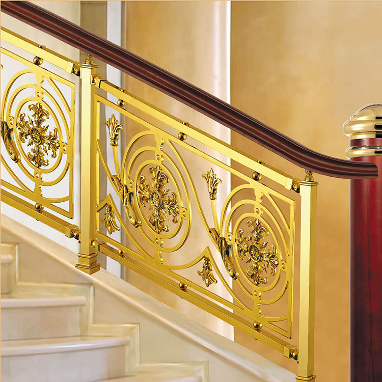 Antique Brass Aluminum Alloy Staircase Railing