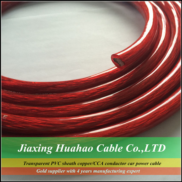 0AWG Car Power Cable with Matted PVC Sheath