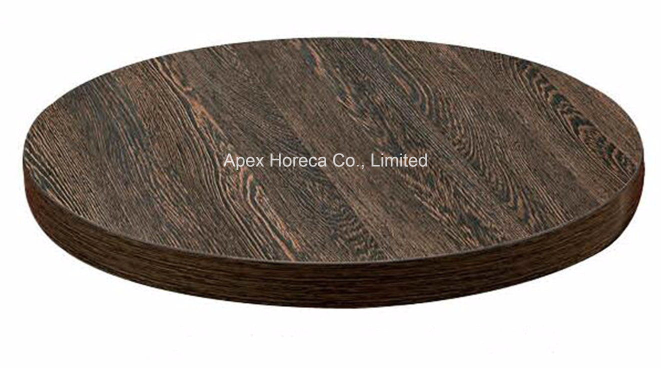 Wood Round Table Top Melamine Restaurant Table Top