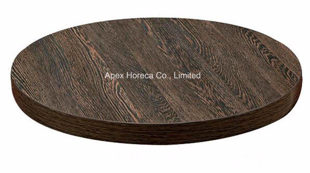 Wood Round Table Top Melamine Restaurant Vintage Table Top