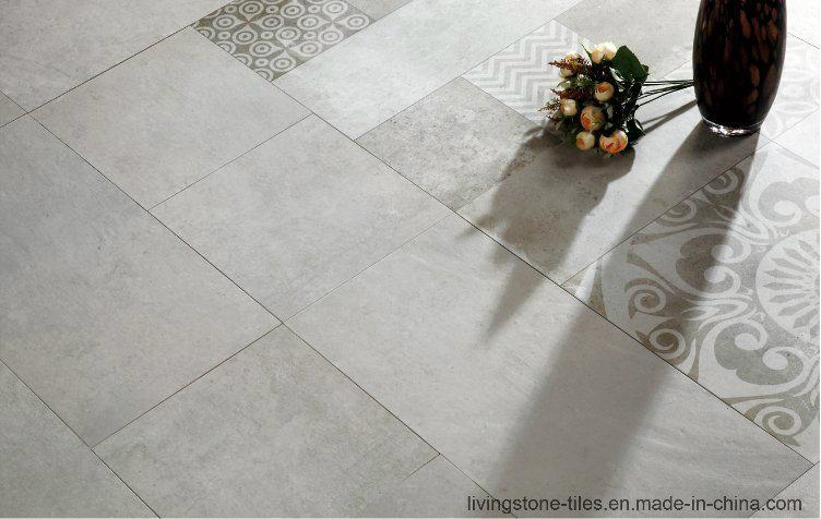 Foshan Factory Newest Cement Design Six Face Ceramic Floor Tile for Airport