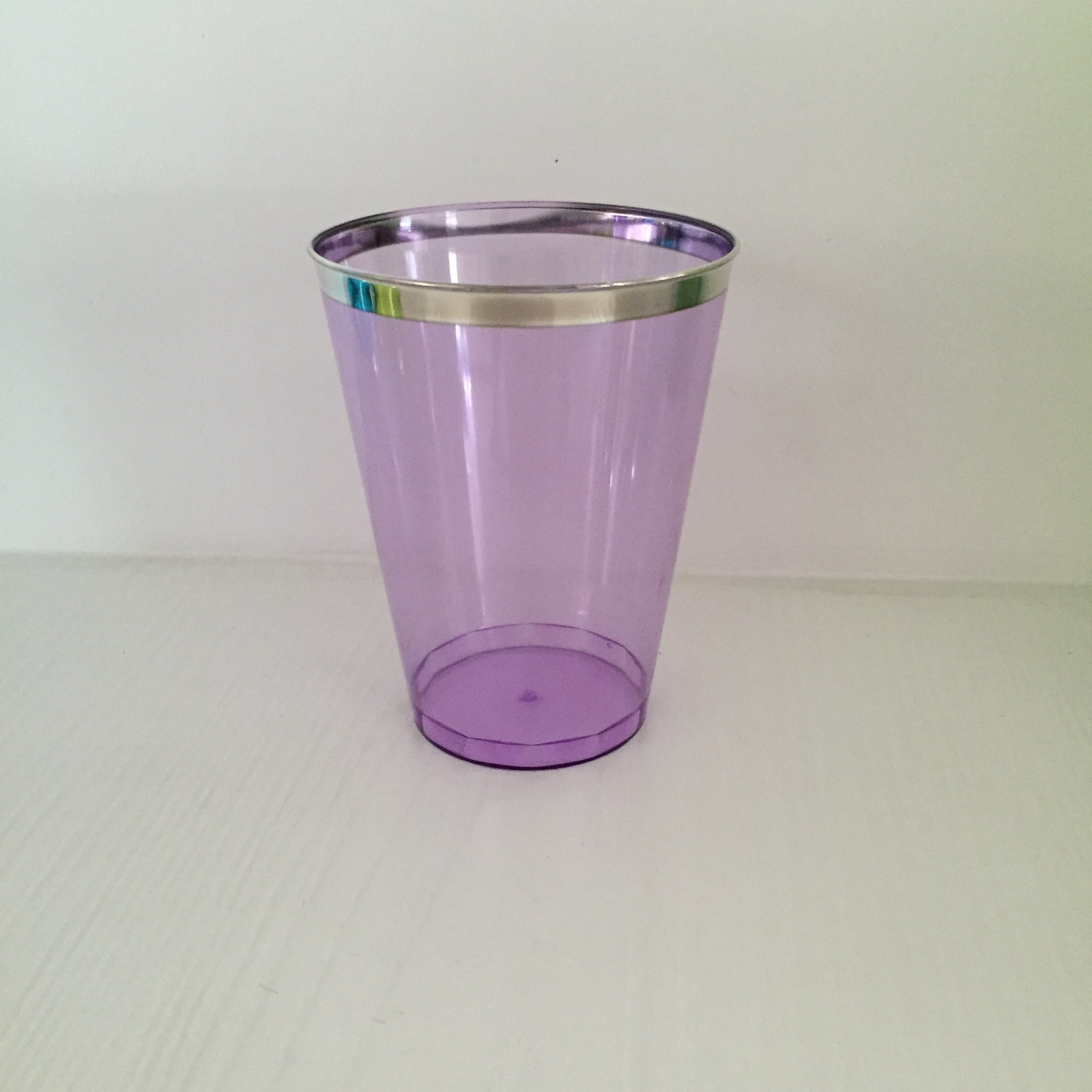 Glass, Mug, Tableware, PS, Transparent, Disposable, Colorful, Injection, GB-02, Plastic Cup, Silver