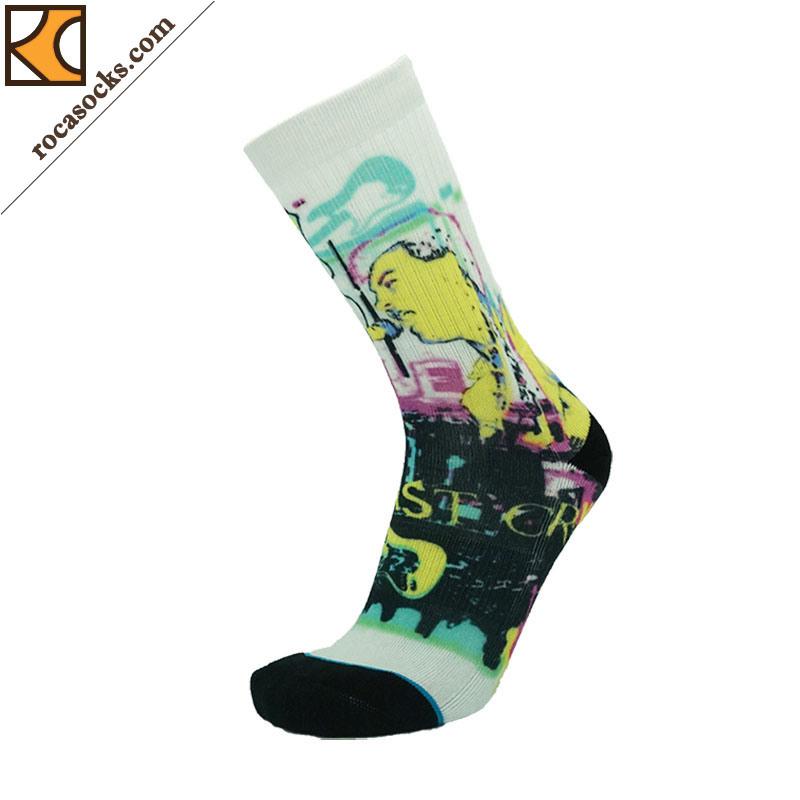 Women′s Fashionable 3D Digital Printing Sport Socks (162044SK)