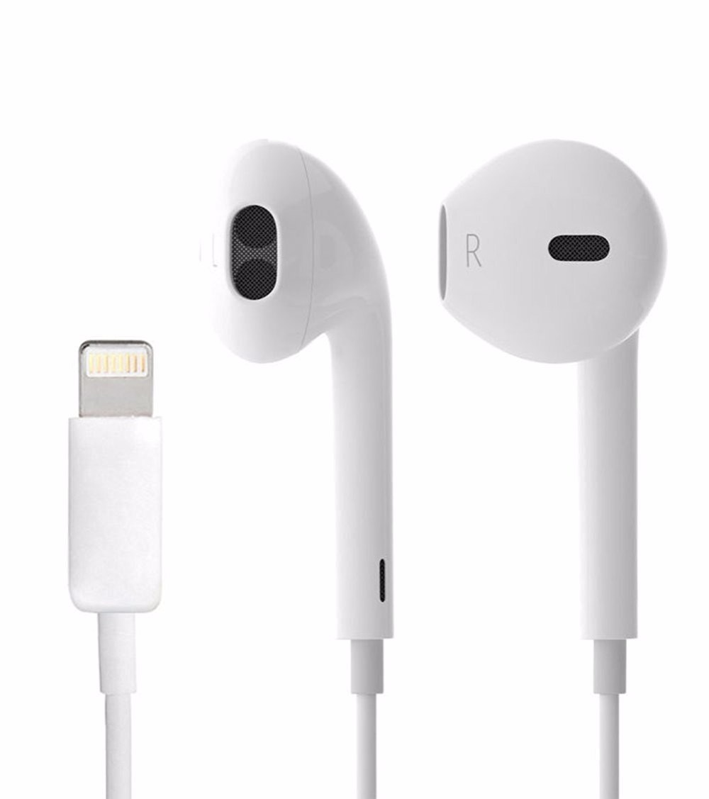 Wired Headset Earbud 8pin Lightning Earphone for iPhone 7 Plus