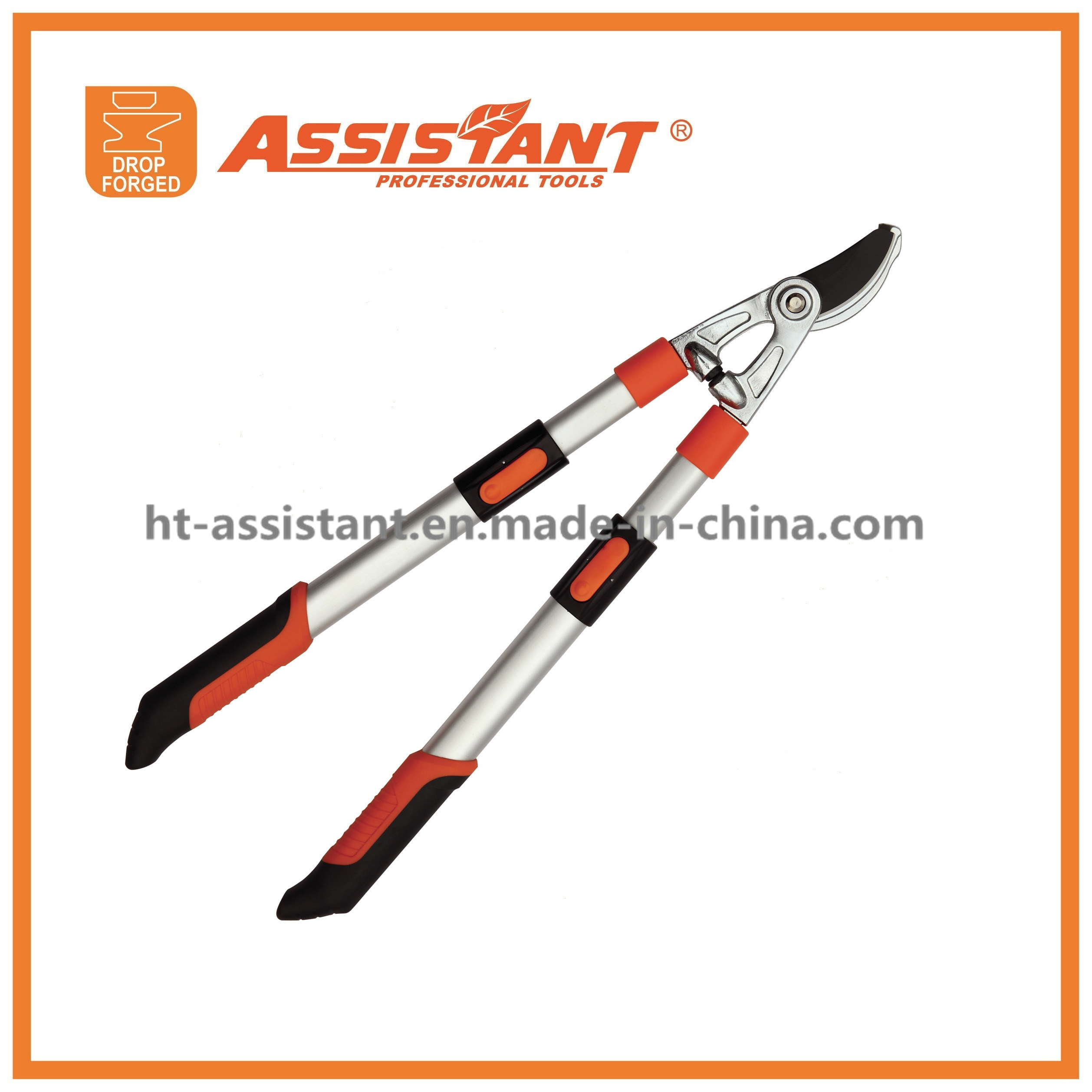 Telescopic Extendable Aluminum Handle Pruning Shears Drop Forged Bypass Lopper