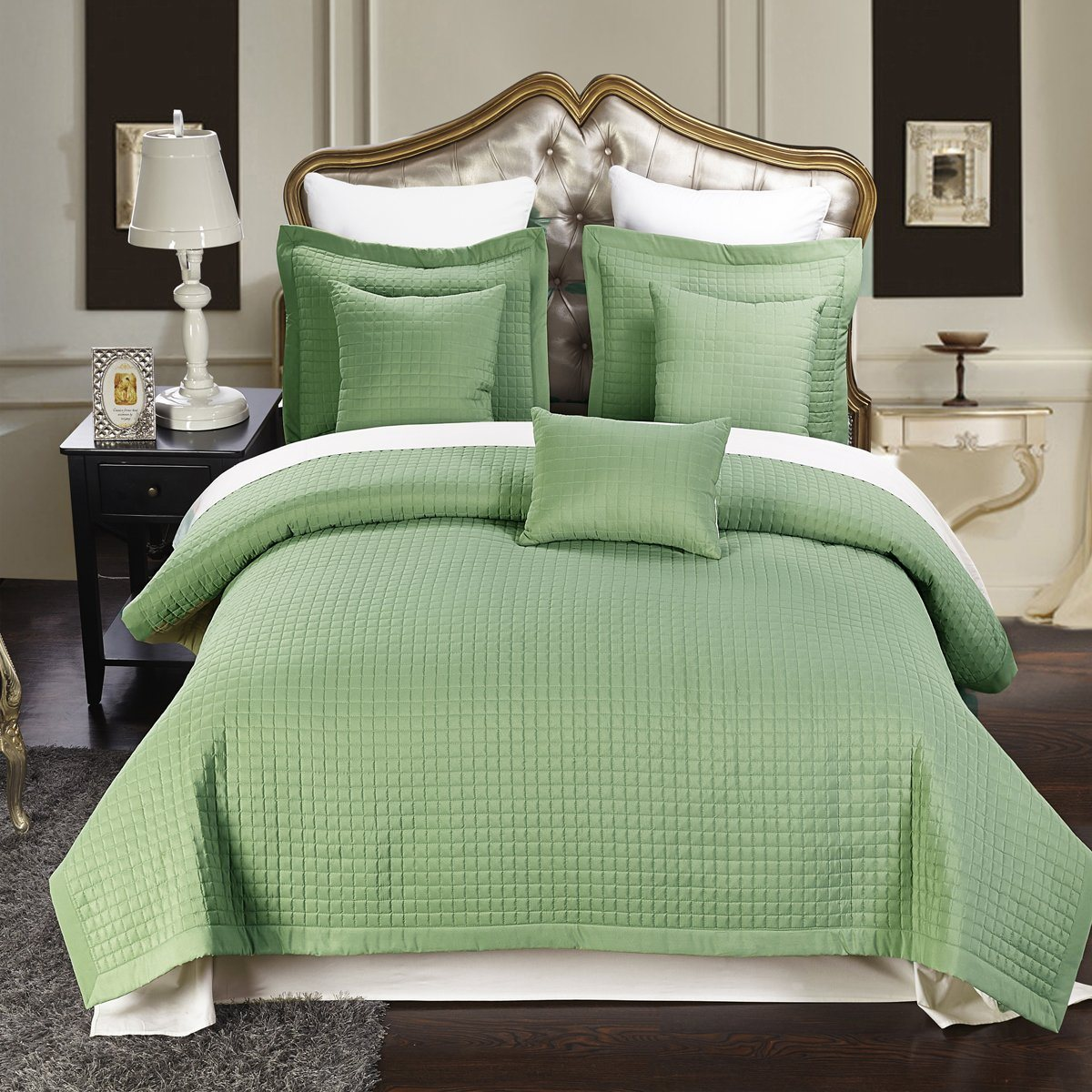 Microfiber Checkered Bed Spread From China Factory (DPF10796)
