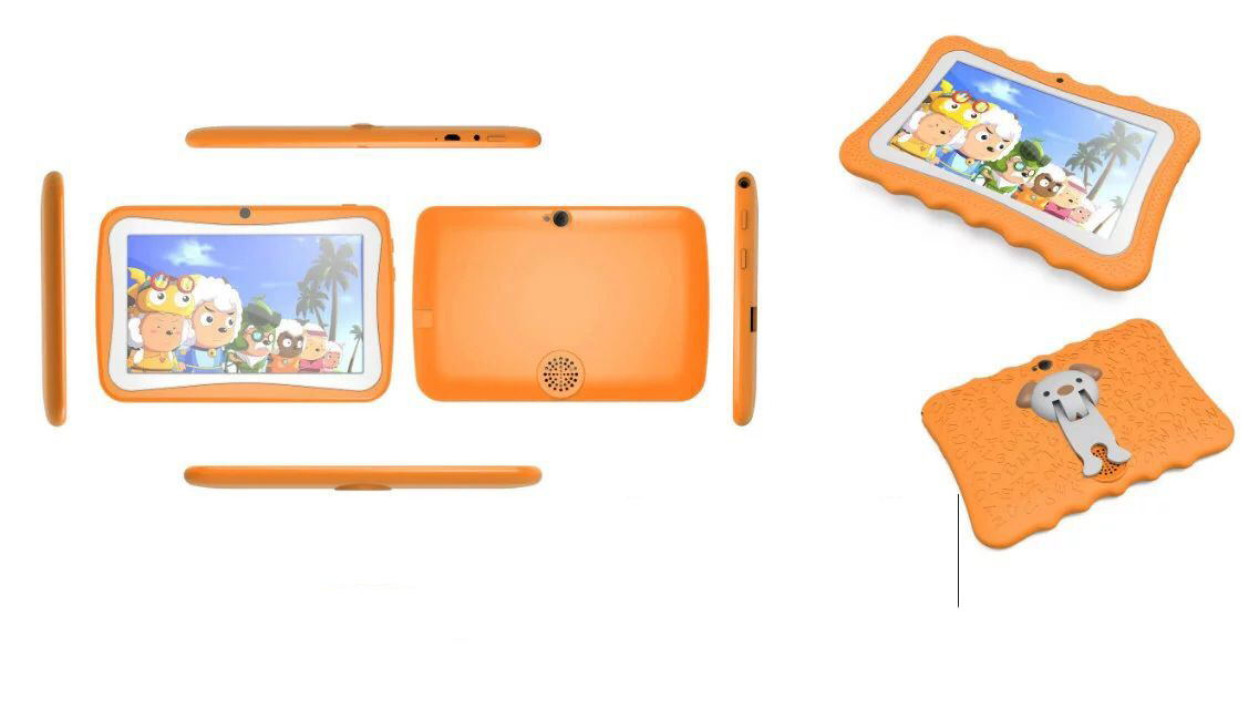 7 Inch Quad Core 1GB DDR 8GB Storage Rugged Educational Kids PC Learning Tablet PC