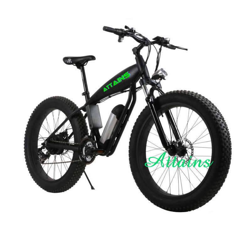 26*4.0 Inch 500W Beach Snow Mountain Fat Tire Electric Bike