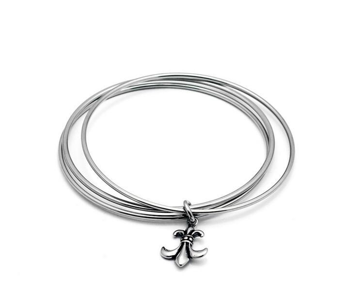 Retro Stainless Steel Jewelry Trinity Crowe Love Bangle
