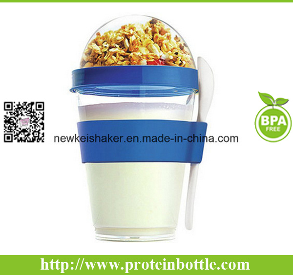 Hot Sell Promotion Gift Yogurt Cup with Spoon