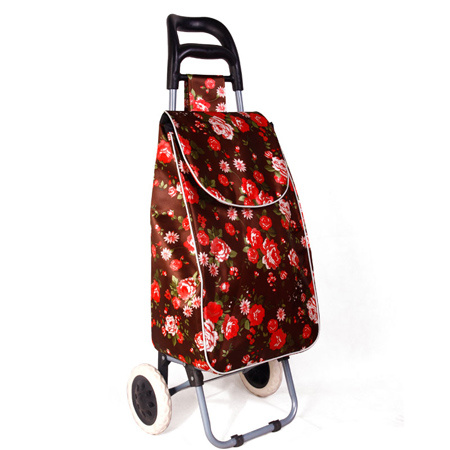 Supermarket Shopping Equipment Trolley Bag with Waterproof Satian Foam Material
