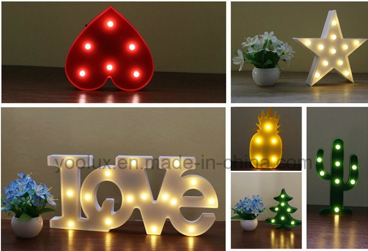 Battery Operated Daizy Shape 3D LED Symble Vintage Marguee Lights
