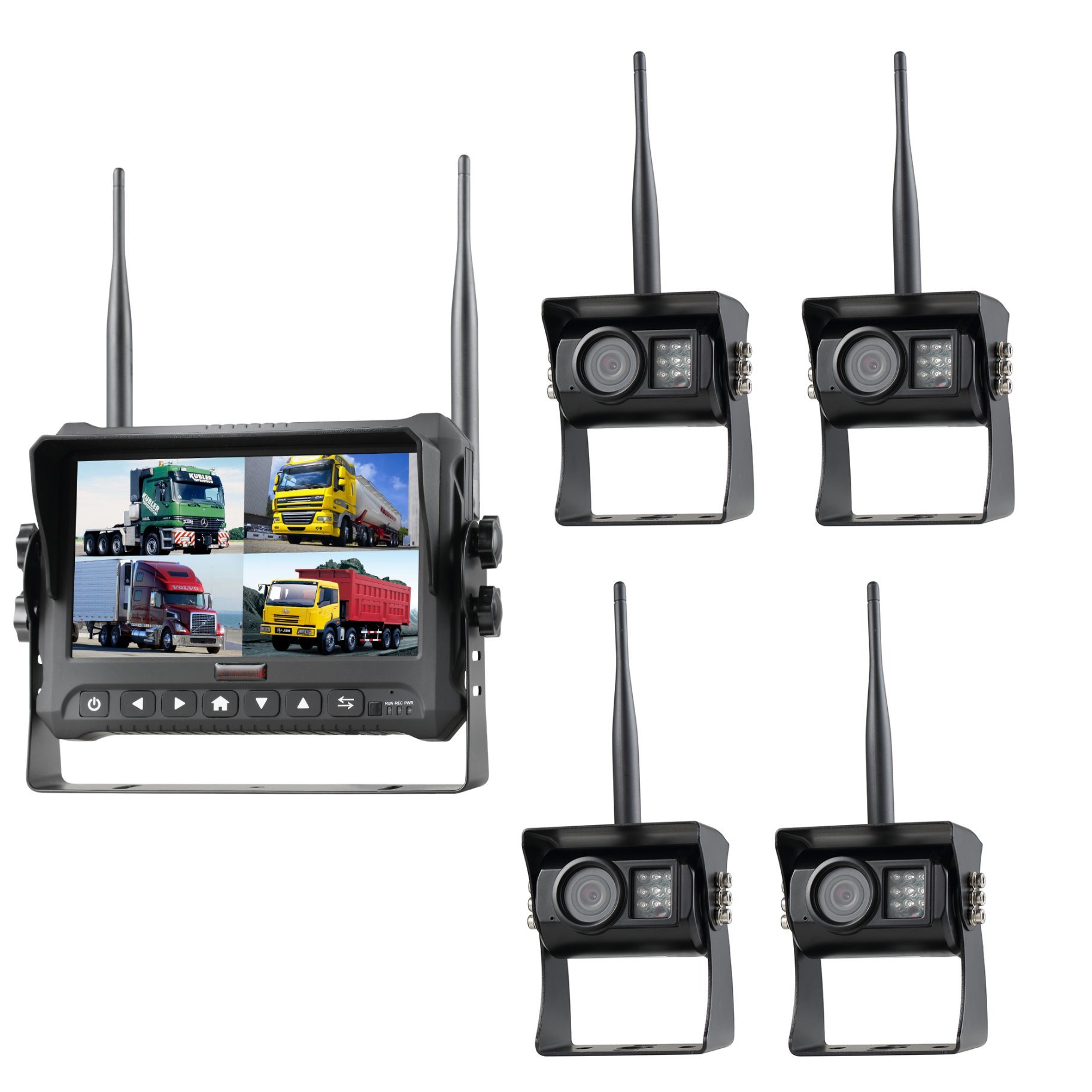 7inch Digital Wireless Recording Rear View System