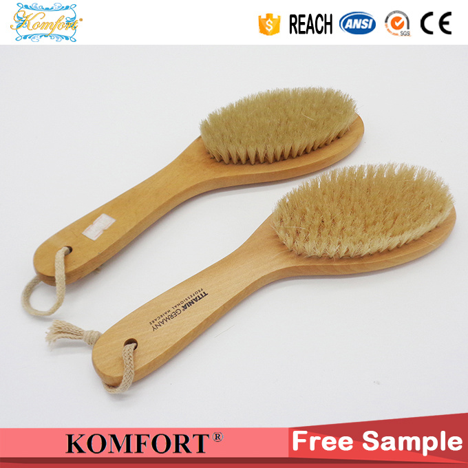 SPA Natural Bristle Bath Wood Foot Scrub Brush Japanese Body Brush