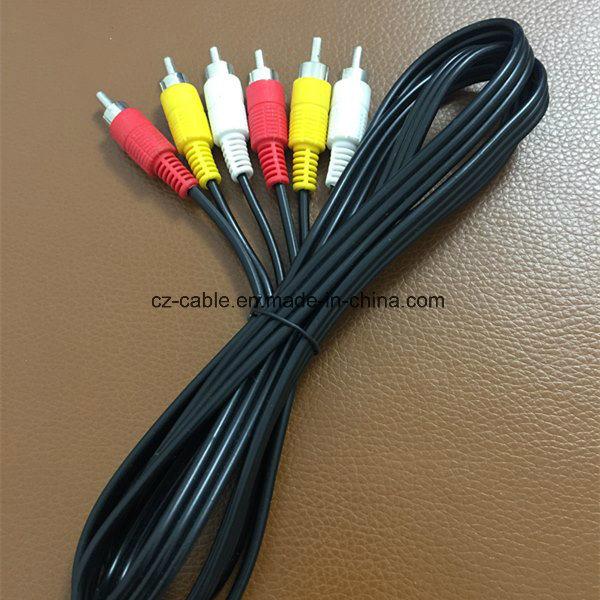 RCA Cable, 3RCA Plug to 3RCA Plug (3r-3r) Cable