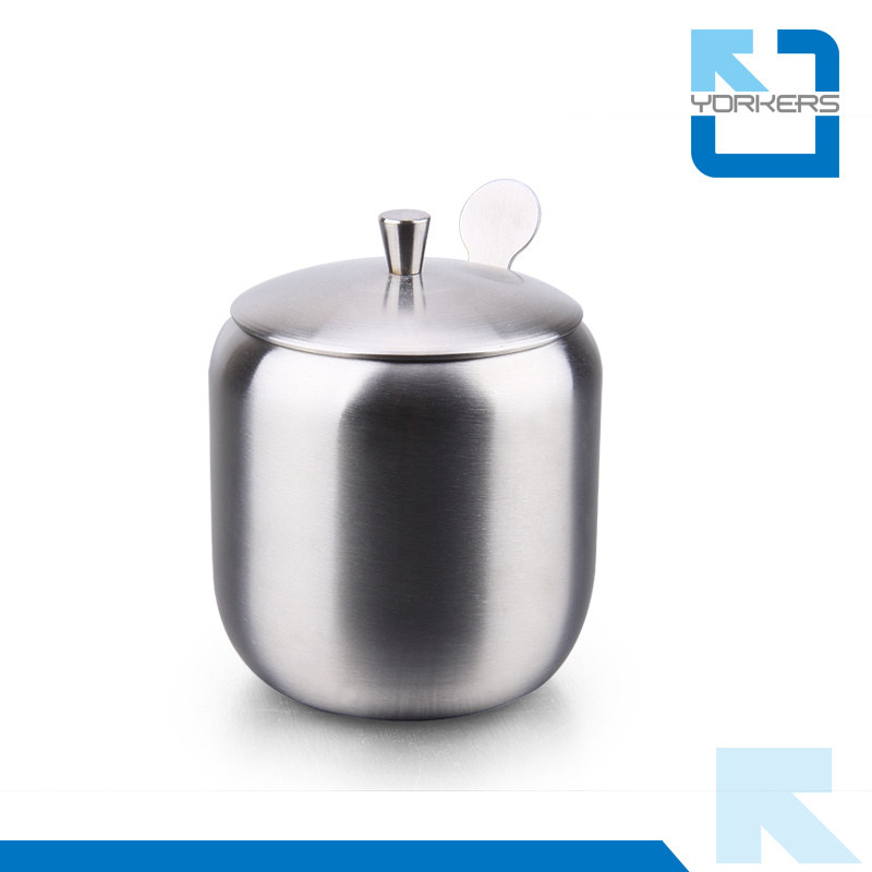 Hot Selling Plate Type 304 Stainless Steel Spice Jar & Salt and Pepper Bottles