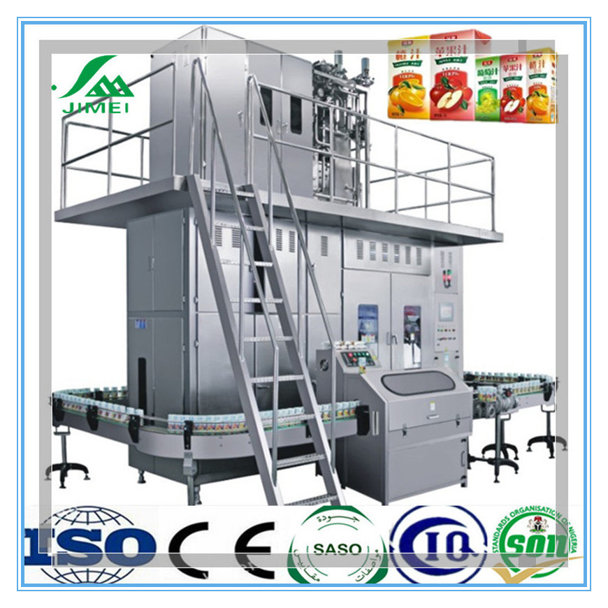 High Quality Complete Automatic Aseptic Paper Carton Box Beverage Filling Packing Machine