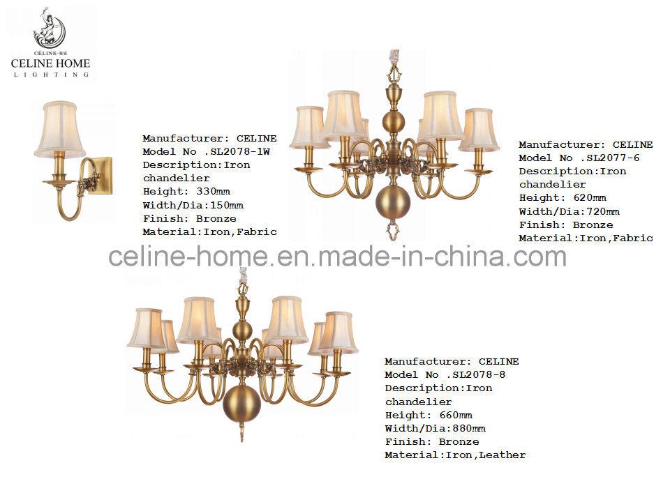 Classical Brass Chandelier Lighting (SL2078-6)