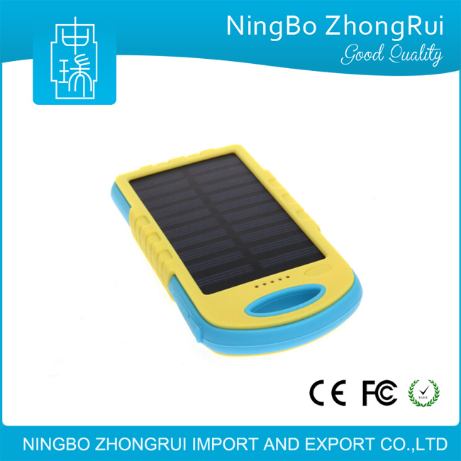 New 8000 mAh Solar Power Bank Waterproof Phone External Battery Solar Charger Power Bank for All Mobile Phone