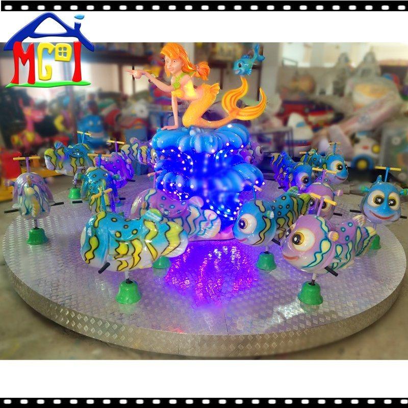 Beauty Fish Carousel Amusement Park Kiddy Ride Roundabout Game