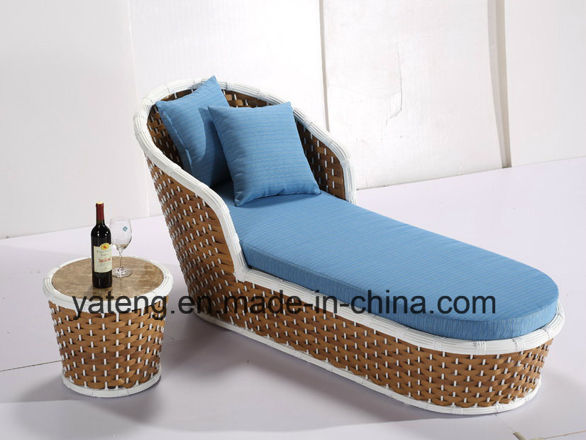 New Hotel Furniture Using Outdoor Garden Chaise Lounge with Side Table (YTF1050&YTE1050-1)