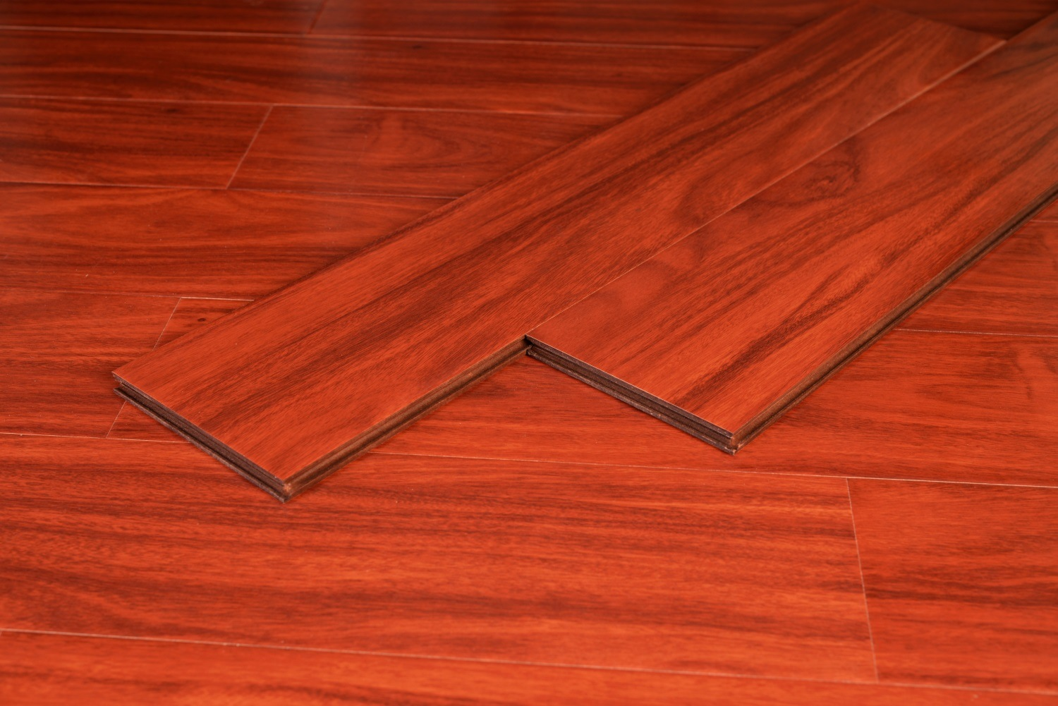 Red Laminate Flooring for Living Room