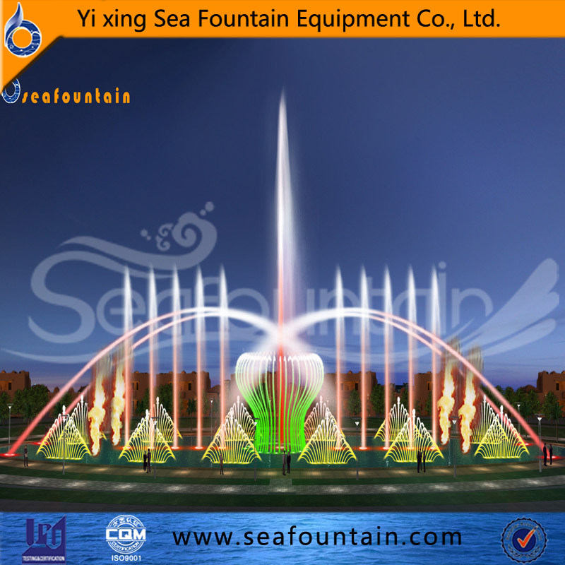 Urban Construction Contemporary Music Fountain Changeable
