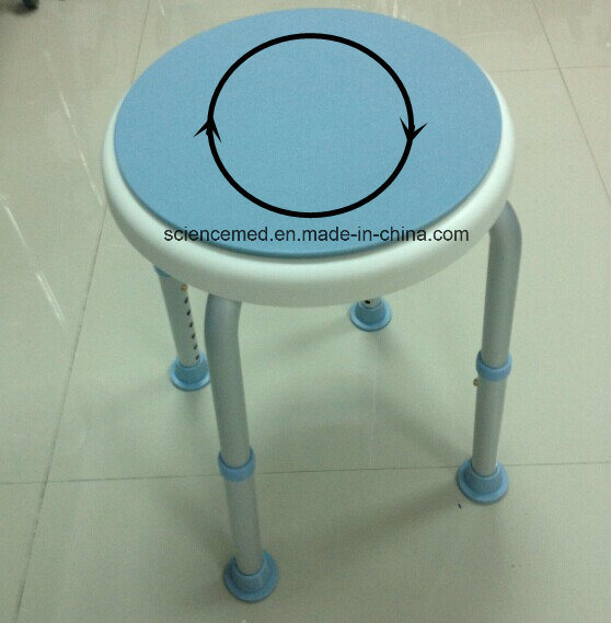 Bath Chair Shower Chair Aluminum with 360 Degree Swivel Seat