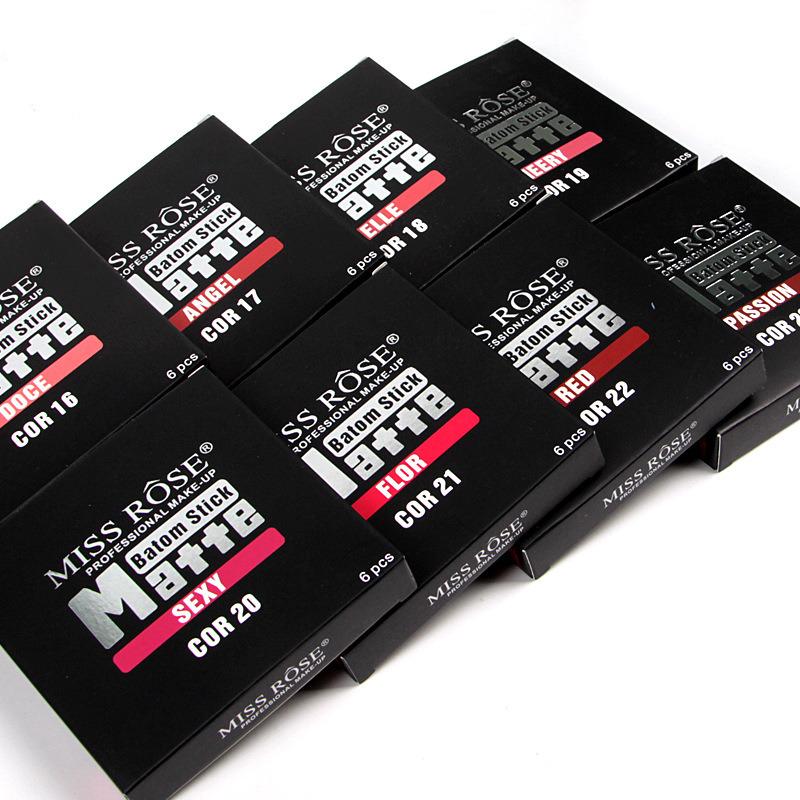 Cosmetics Matte Lipstick 6 in 1 Gloss Lip Make up Lips Crayons 24 Hours Long Lasting Nude Women Waterproof Lipsticks