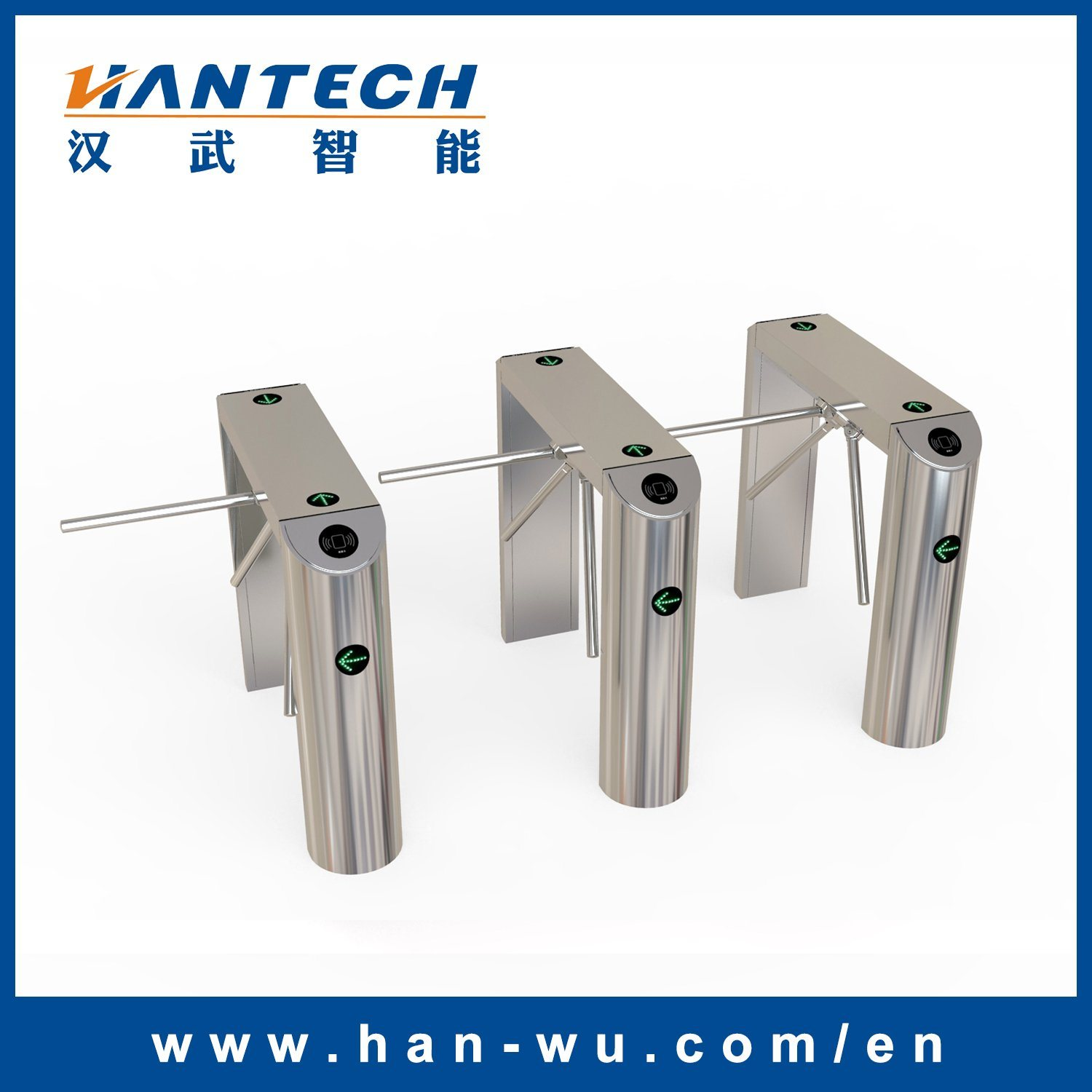 Automatic Pedestrian Tripod Turnstile for Entrance Control System