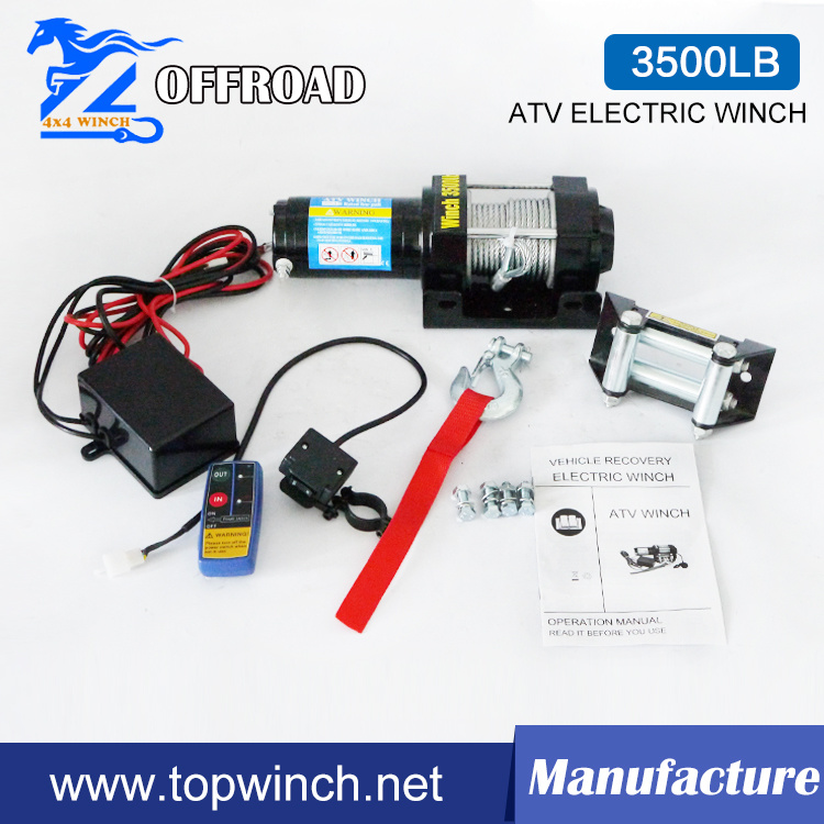 ATV 12V/24V DC Electric Winch with Ce Certification (3500lb)
