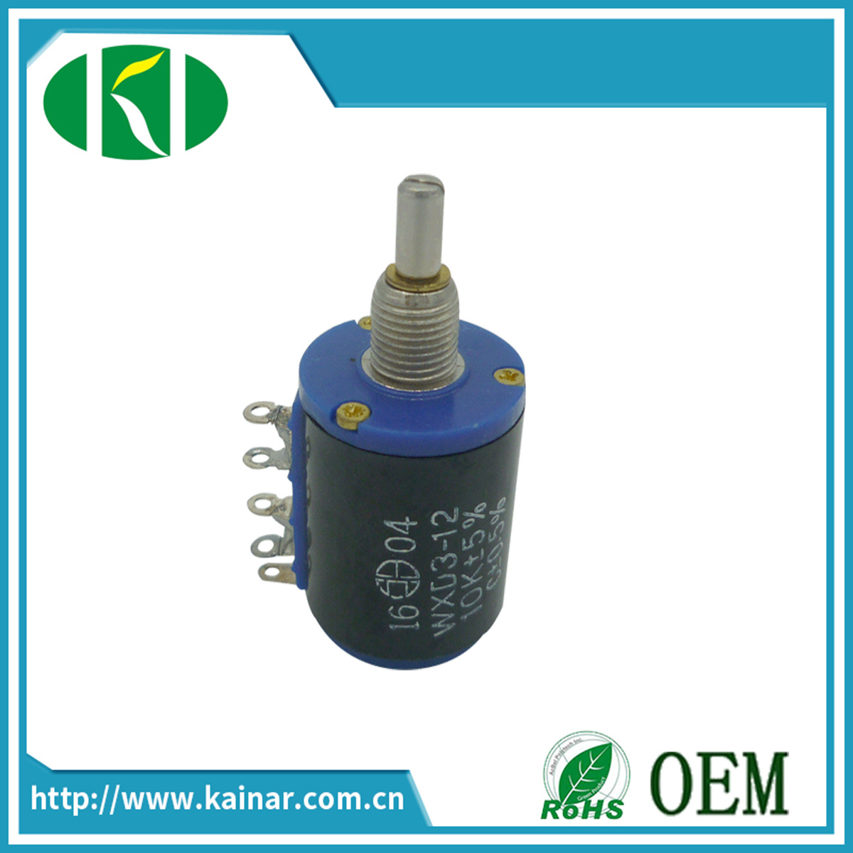Wxd3-12 5 Turns Precision Wirewound Potentiometer