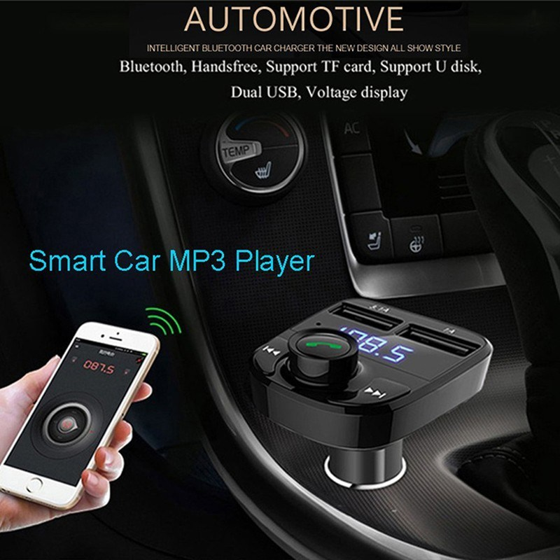 3.1A Quick Charger Dual USB Bluetooth Handsfree Car Charger Kit