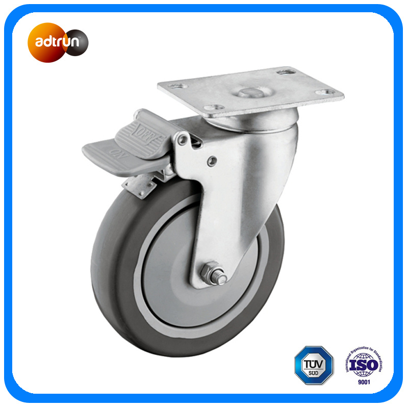 Plate Casters Rigid Caster and Swivel Caster Kit