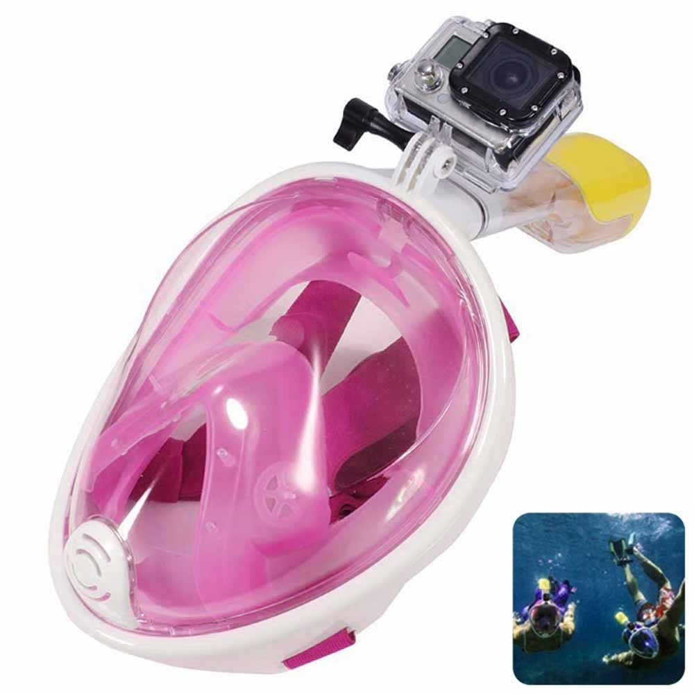 Pink Full Face Snorkel Mask Ce RoHS FDA Diving OEM Custom-Made Any Color Direct Chinese Factory