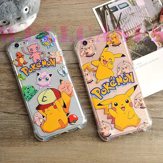 Pokemon Pikachu Shockproof Air Cushion Rubber Phone Cover/Case Full Covered