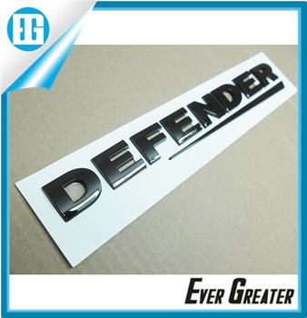 Customized 3D Soft Nickel Chrome Label Chrome Sticker