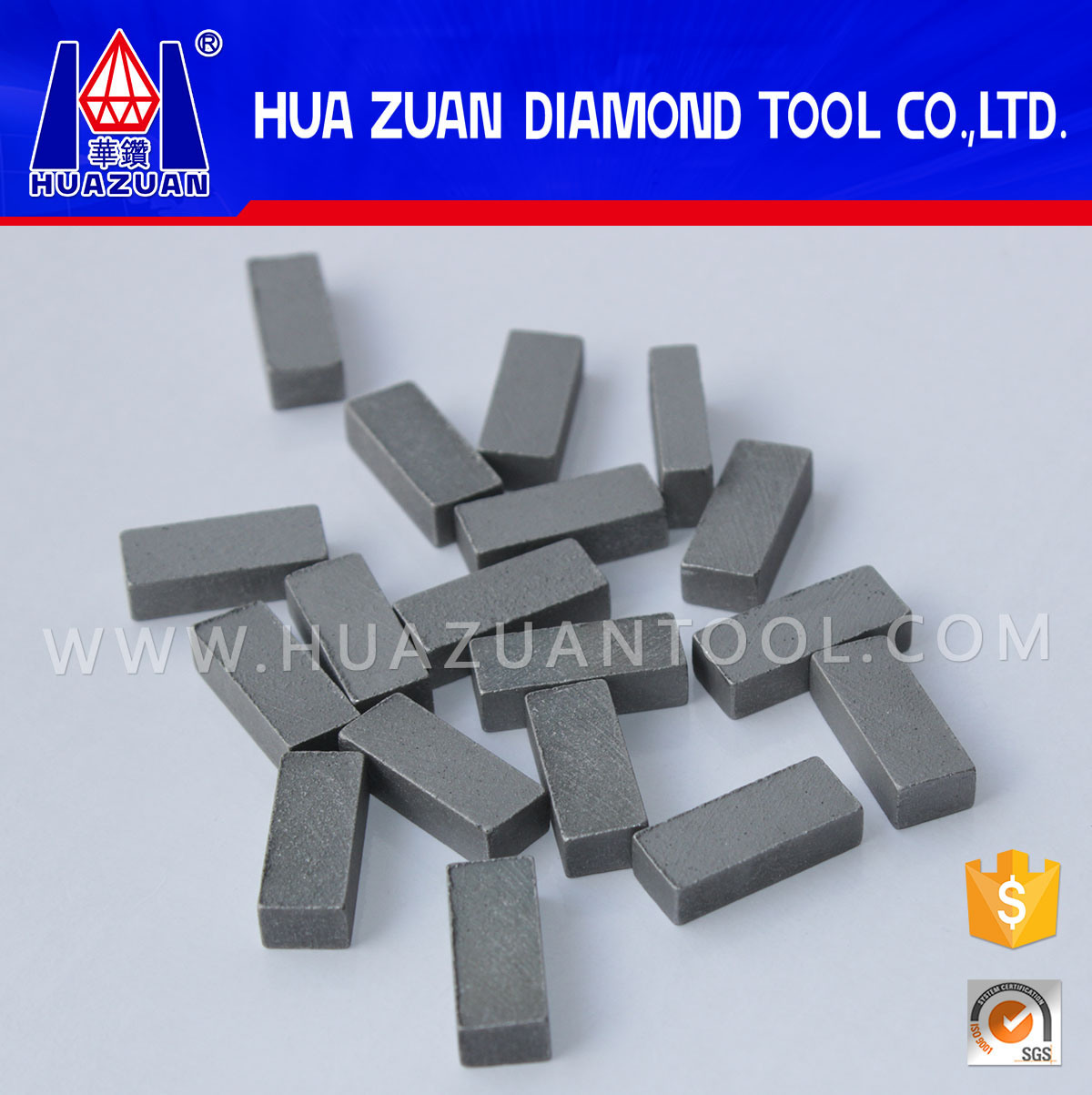 High Efficiency Marble Cutting Diamond Gangsaw Segment