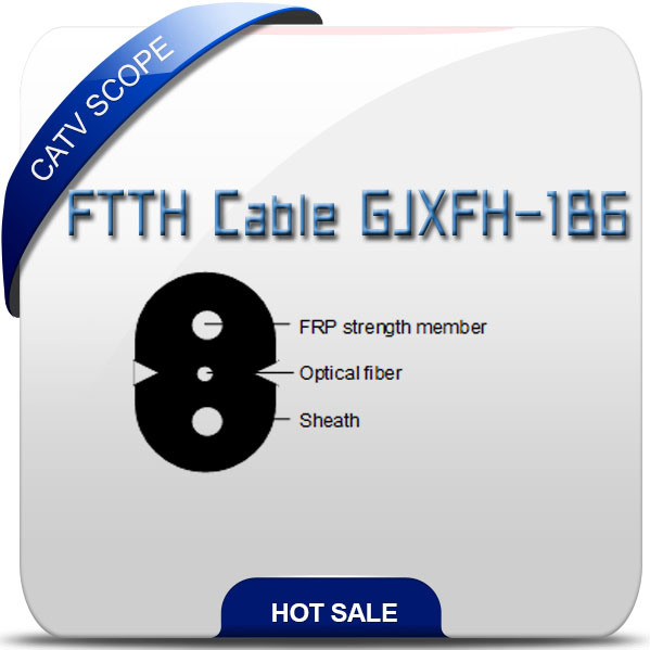 Lszh Sheath FTTH Drop Fiber Optical Cable Gjxfh-1b6