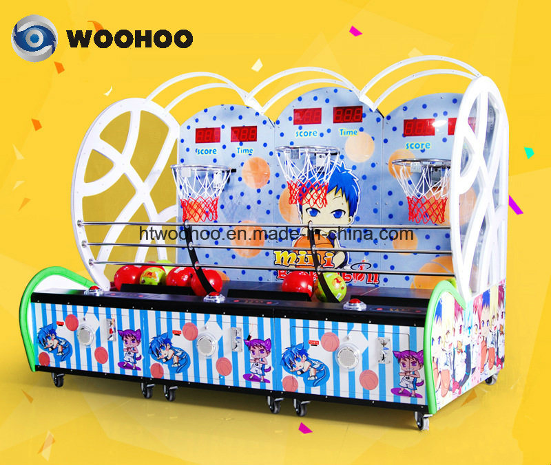 Amusement Park Kids Basketball Coin Operated Machine Cager Machine