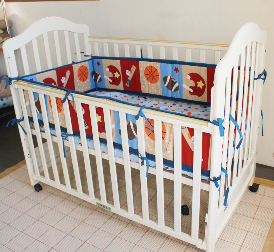 Soft Bedding Set Sports Design 3PCS Set for Baby Boy