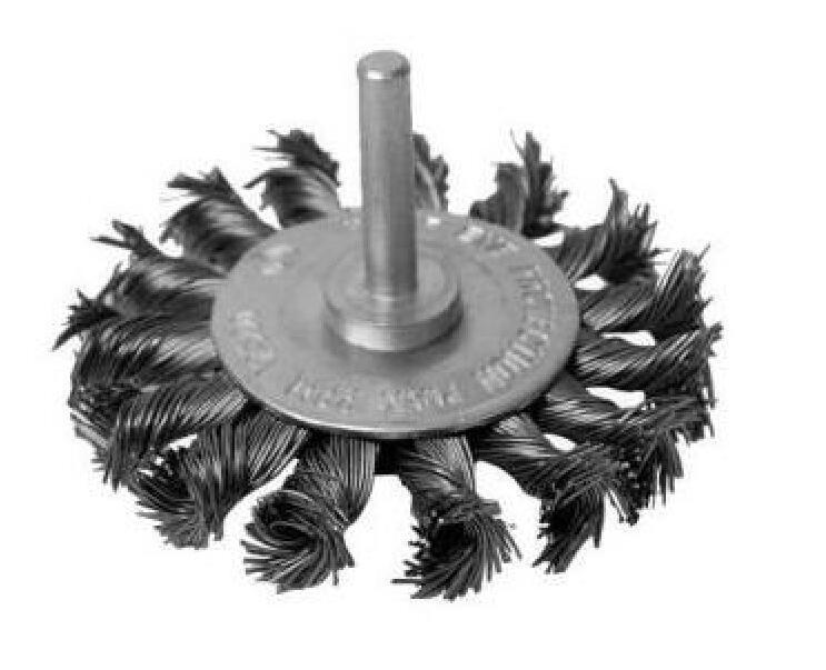 6mm Shank Kseibi Twisted Knot Wire Steel Wheel Brush