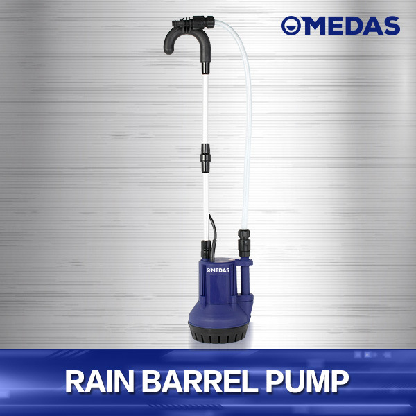 Power Rain Barrel Water Pump with Filter and Handle