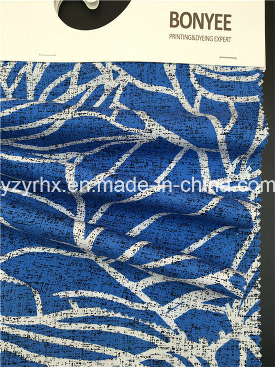 Finished Fabric 100% Cotton Poplin Blue Ground
